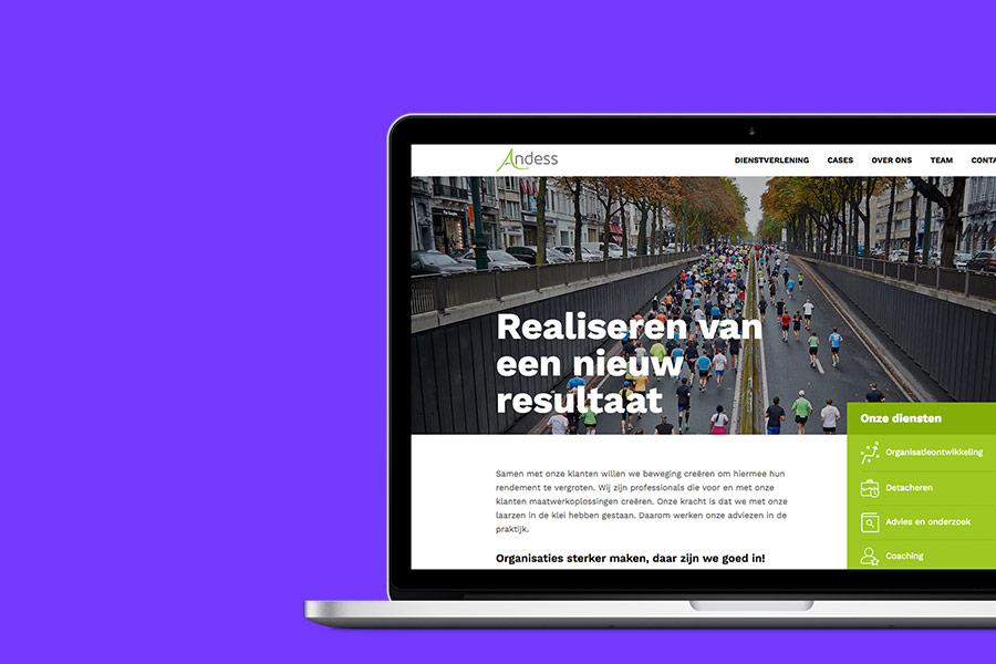 Realisatie website Andess