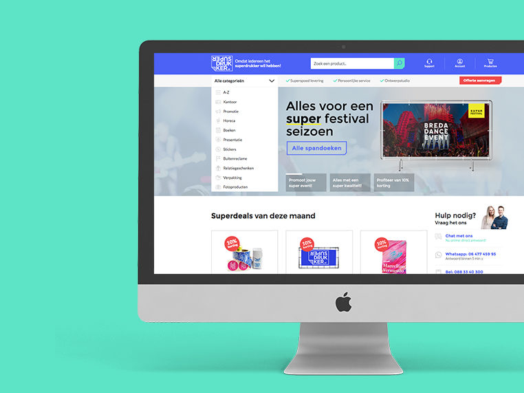 Superdrukker een online webwinkel voor print werk